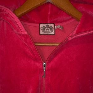 Hot pink Juicy Couture Velour Track Jacket